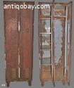 1. Fraaie roestige locker uit DDR vintage industrieel