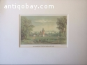 13 lithographs of images from the Dutch East Indies