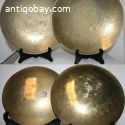 2 Chinese Bronze plates. 4