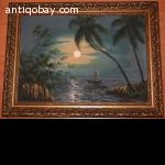 2 Oil Paintings of Java Indonesia