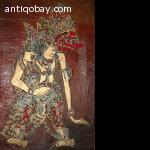 4 Old Wajang Paintings