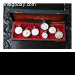 7 old vest pocket watches