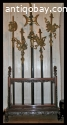 COLLECTION OF 5 CHINESE CEREMONIAL SPEARS / POLES / HALBERDS