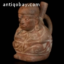 A Pre-columbian very high quality stirrup vessel