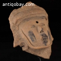 Ancient Pre Columbian Vera Cruz Pottery Head