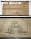 Antique wall map / role of Zuidbeveland