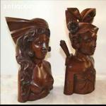 BALINESE WOOD CARVING COUPLE SCULPTURE