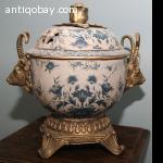 Ceramic Bowl with bronze ornaments