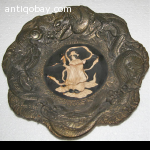 Chinese bronze display plate