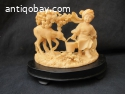 Chinese mammoth ivory  finely carved statue,