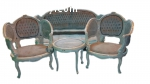 elegant 19th century Louis XVI Corbeille living room set