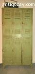 Fraaie vintage metalen industriele locker 2