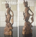 INDONESIAN  WOOD CARVING SCULPTURE