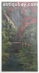 Jungle view in Indonesia oil painting