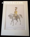 Napoleonic period.   6 Prints of German military uniforms.