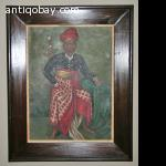 Oil painting Indie Bali Indonesia Basuki