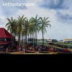 Oil painting Indie Indonesia, Batavia