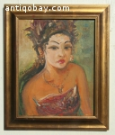 Oil painting Indonesia S Sudjojono
