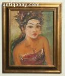 Oil painting Indonesia S Sudjojono