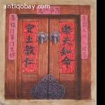 Oil painting of old Chinese door 1