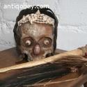 Old human skull Asmat New Guinea
