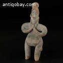 Pre-columbian Colima natural buff-brown