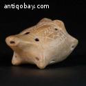 pre-columbian Colima Zoomorphic whistle