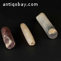 Pre-Columbian Tairona stone/quartz tubular beads.