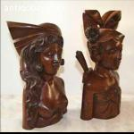 Quality Balinese carved couple