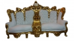 Rococo living room set. sofa and 2 chairs