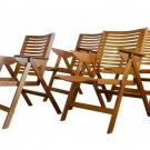 "Set of 4 folding armchairs ""Rex Lounge"" by Niko KRALJ"