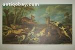 The Scene of hunting Pablo Vos Print van Olieverf op doek