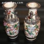 A set Rose Warriors Crackle Vase