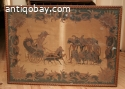 Very old batik painting in frame,  from Solo 1850