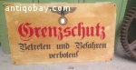 Vintage German militairy sign