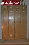Vintage metalen industriele locker 1