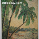 Vintage Painting from Java