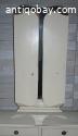 Vintage toilettafel/kast met klapspiegel.