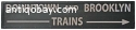 Vintage train/underground sign. 1