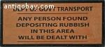 Vintage train/underground sign. 3