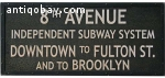 Vintage train/underground sign. 4