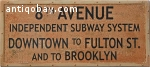 Vintage train/underground sign. 5