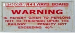 Vintage train/underground sign. 8