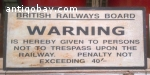 Vintage train/underground sign. 9