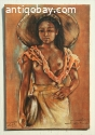 W.G.Hofker Oil Painting of Bali Woman